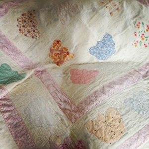 Pre-loved butterfly quilt