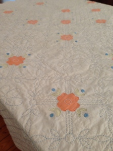 Pre-loved appliqué quilt