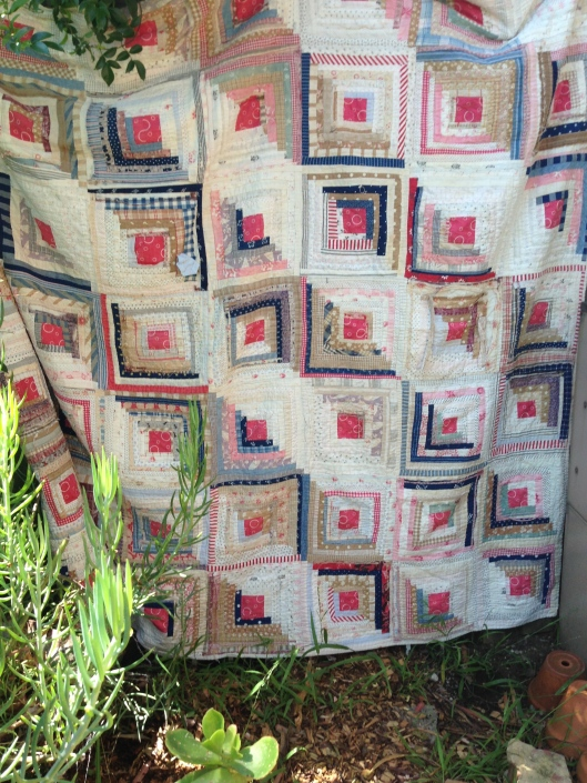 Straight Furrow - Log Cabin Quilt