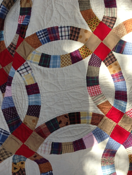 My Double Wedding Ring quilt