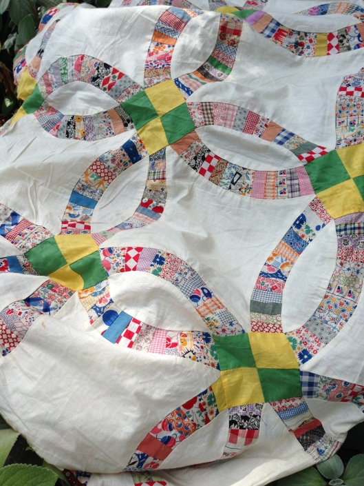 Detail of quilt top