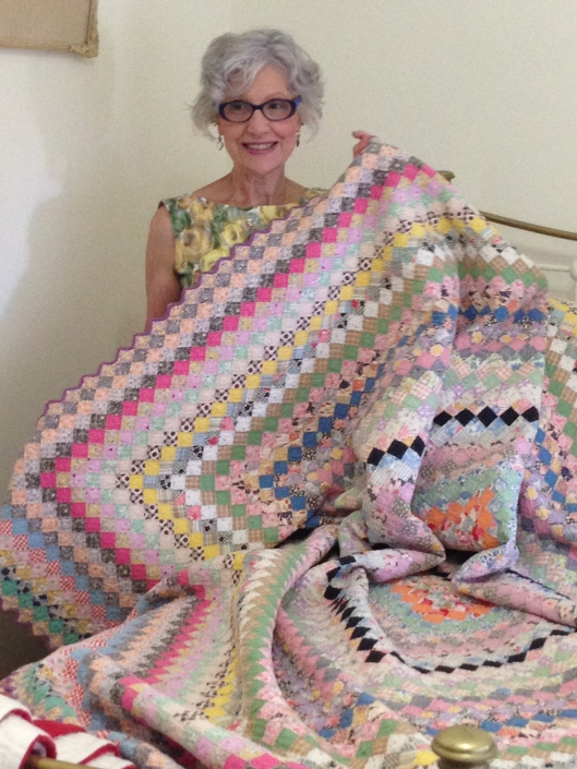 With my quilt