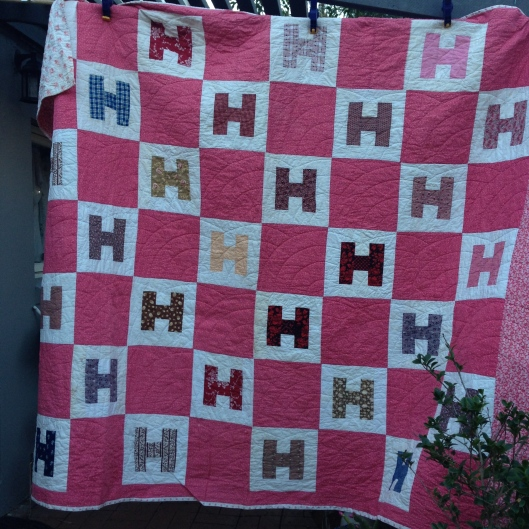 The Letter H Quilt