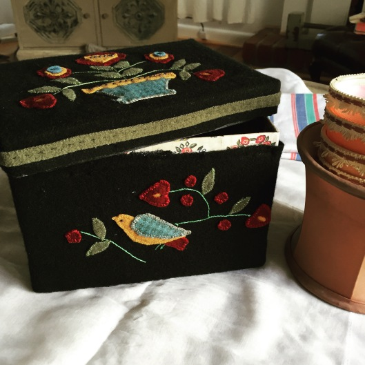 Nellie's Sewing box - A Quilted Crows kit  - finished.