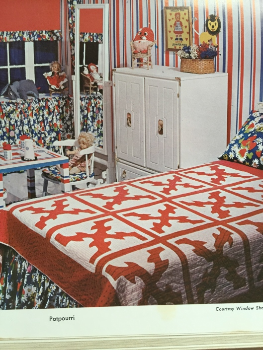 Bright colours for a child's bedroom from Sewing for the Home.  Another Mary Brooks Picken book.
