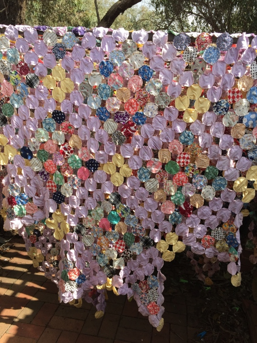 Reverse side of quilt.