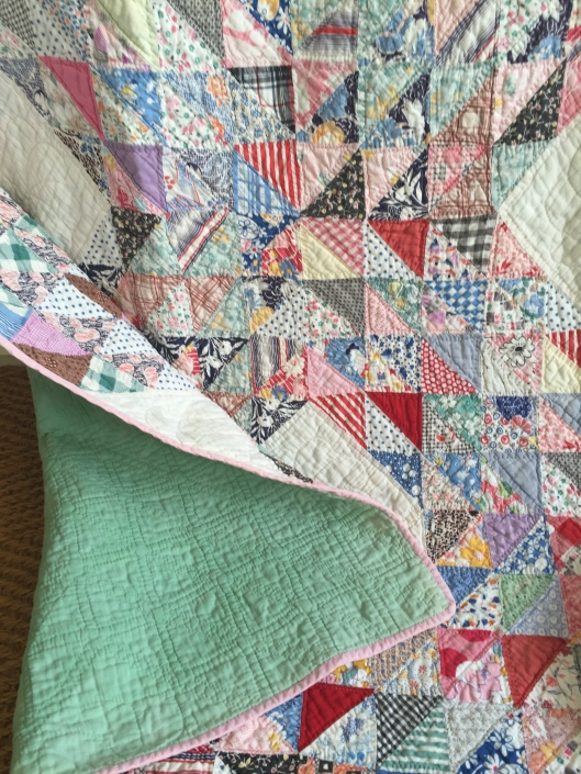 Quilt backing and binding