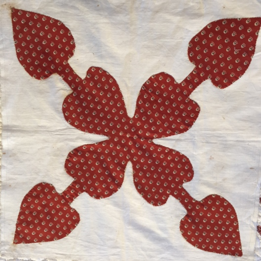 Madder Red Applique Block
