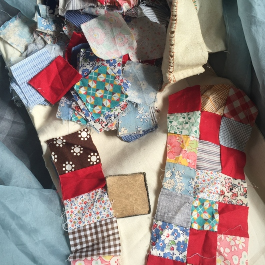 Pieces of Irish chain quilt